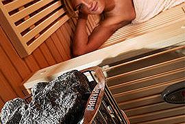 Harvia Saunaöfen, für private und gewerbliche Saunaanlagen.
